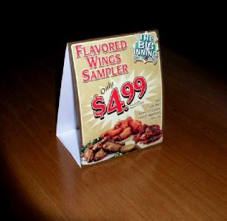 Overbest Table Tents - Restaurant table advertising